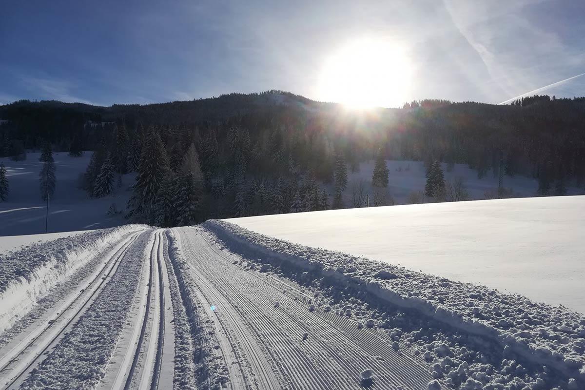 Winteridylle auf der Höhenloipe Embach